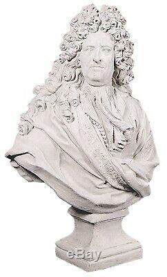 106cm Louis XIV Bust Statue Figure Garden/indoor Resin Fibreglass Stone Finish
