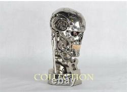 11 Terminator Arnold T2 T800 Skull LED Light Figures Resin Statue Bust Model