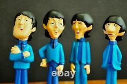 1965 The Beatles Tv Show 6 Cartoon Resin Statue Figures Mint