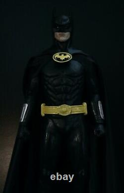 1989 Batman 1/6 Custom Statue Figure 12 inch Keaton Burton NOT hot toys sideshow