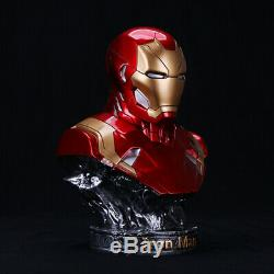 1/2 painted Marvel Avengers Bust Statue Resin Iron Man MK46 Actionfigur