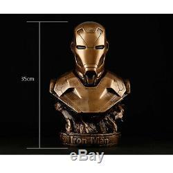 1/2 painted figure Avengers Bust Figure Resin Statue Iron Man MK46 Bust Statue