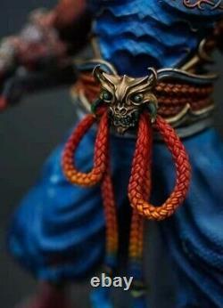 1/6 Ancient Warrior Japanese Red Samurai Resin Model Kit Unpainted Figure Statue