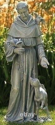 36.5 St Francis with Deer Figure Outdoor Garden Statue Joseph's Studio # 42345