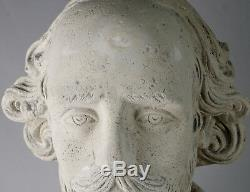 79cm Shakespeare Bust Life Size Figure Stone Effect Resin Garden/indoor Statue