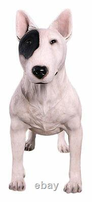 85cm Life Size Bull Terrier Dog Statue Resin English Terrier Pet Animal Figure