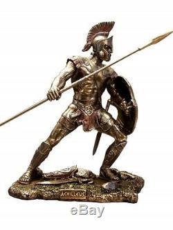 Achilles and Hector Fight Figures Stautes Veronese Bronze Art Gift Antique