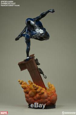 Amazing Spider-man Symbiote Costume Premium Format Figure Statue Sideshow Black