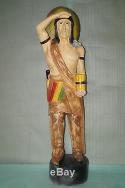 American Indian 3 Garden Statue Resin 157 cm Life Size Warrior Figure