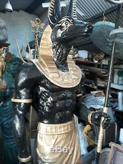 Anubis Egyptian Mythology Sculpture Art Statue Home Garden Decor Figurine Resin