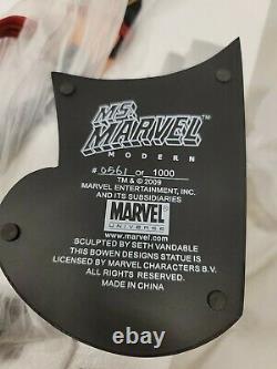BOWEN DESIGNS MS MARVEL MODERN VERSION STATUE Limited 1000 FiGURE BUST Sideshow