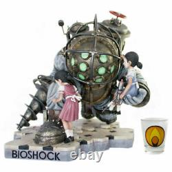 Bioshock Big Daddy Resin Cast Statue Figure Bouncer 14 + x2 Little Sister #/400