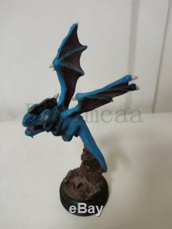 Bloodelf VS Draenei Resin GK Statue + Blue Dragon Figure WOW