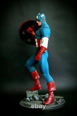 Captain America 1/6 Scala Statue Figure Statua Resin Replica Kotobukiya Custom