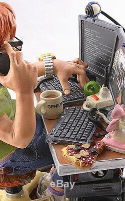 Computer Tech Geek Nerd Gamer Programmer Funny Figure Figurine Statue Gift