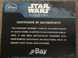 Disney Exclusive Star Wars Rogue One Jyn Erso Figure Statue Limited Edition 500