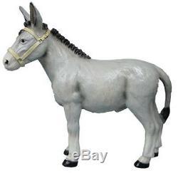 Donkey 2 Garden Statue Resin Life Size Animal Figure 2 Colours