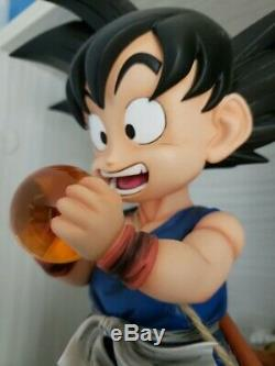 DragonBall GT Little Kid Son Goku Saiyan Resin Statue Action Figure W LED Light