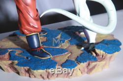 DragonBall Z DBZ Figure Frieza VS GOKU High Quality Resin Statue Luminous Base