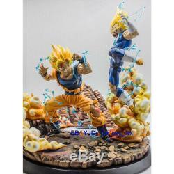 Dragon Ball Goku VS Vegeta Resin Model Figurine Statue Painted Figure GK Toy
