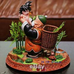 Dragon Ball Son Goku With Grandpa Resin Recast Figure Statue Figurine IN STOCK
