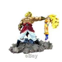 Dragon Ball Super Saiyan 3 Son Goku VS Broly Battle Scene Statue Action Figure