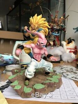 Dragon Ball Super Saiyan 3 Son Goku VS Kid Majin Buu Resin Figure Statue Model