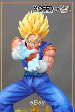 Dragon Ball Super Soldier SSJ Vegetto 3 Heads 2 Gas explosion Props Resin Statue