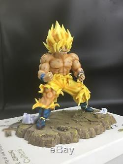 Dragon-Ball Z DBZ Super Saiyan War damage SSJ GOKU Resin GK statue Figure 11inch