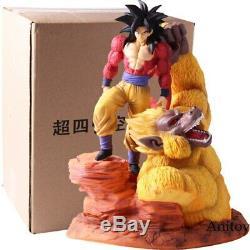 Dragon Ball Z Super Saiyan 4 Son Goku Gold Great Apes Scene Statue Resin Figure