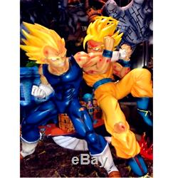 Dragon Ball Z Super Saiyan Son Goku VS Majin Vegeta GK Resin Statue Model Figure