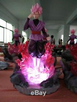 Dragon ball Z Super Saiyan Rose Goku Black Resin Statue Figure LED Dragonball z