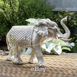 Extra Large Silver Elephant Ornament Statue Figure Figurine Home Decor Sculpture