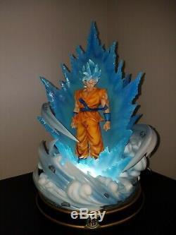 Figure Class Dragon Ball Super Saiyan Blue SSGSS Son Goku Resin Statue Black