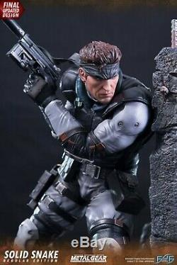 First 4 Figures Metal Gear Solid (Solid Snake) Regular RESIN Statue /Figure