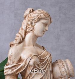 Gartenfigur XXL Frauenfigur Landhausstil Skulptur Frau Statue Terrassenfigur