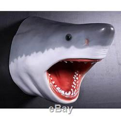 Great White Shark Head Wall Hanging Sculpture Trophy Garden/indoor Resin Figure