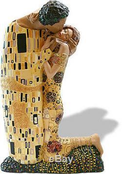 Gustav Klimt THE KISS Large Size Licensed Museum Sculpture Statue Figure