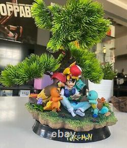 HUGE Ash & His Pokemon Statue! (RARE) Bonsai Tree Pikachu Figure Model Resin