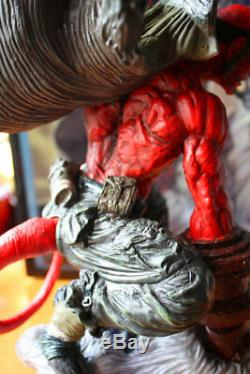 Hellboy Resin GK Scene Statue 14'' Action Figure Collection New In Stock Anime