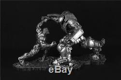 Hulk VS Hulkbuster MK44 Statue Resin Collection Model Figure Colorful Gift New