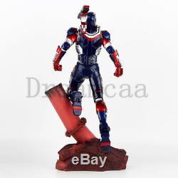 Iron Man Iron Patriot LED Statue 1/6 Scale Captain America 3 Desktop Figure New