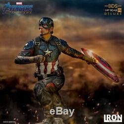 Iron Studios 1/10 Captain America Steve Deluxe BDS Avengers Statue Figure