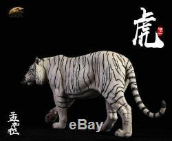 JxK JXK012B 1/6 White Bengal Tiger Animal Figure Resion Statue Toy Gift