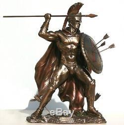 LEONIDAS Greek Spartan King Warrior Statue Sculpture Figure Bronze Finish 12.5in