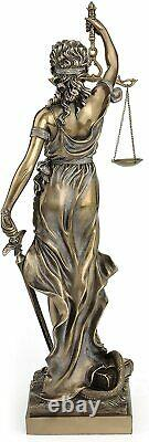 Large 18 inch Blind Lady Justice statue Sculpture Brand New Mint Gift Boxed