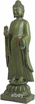Large Buddha Statue Decor 40 Outdoor Yard Zen Spiritual Enlightened Yoga Figure