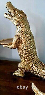 Large Crocodile Aligator Dish Plant Key Holder Statue Figure Ornament Decorative