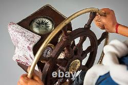 Large Guillermo Forchino Comic The Weekend Captain boat Figure Sculpture Statue