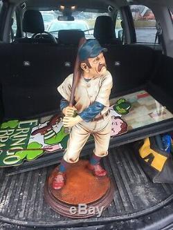 Large Vintage Baseball Player Statue Figure Peter Mook Resin Sculpture 28